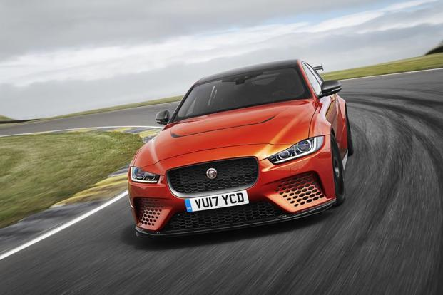 The concept behind the Jaguar Project 8 is simple and as old as racing itself: take the lightest body possible (Jaguar XE) and match it with the most powerful V8 available. Photo: Jaguar