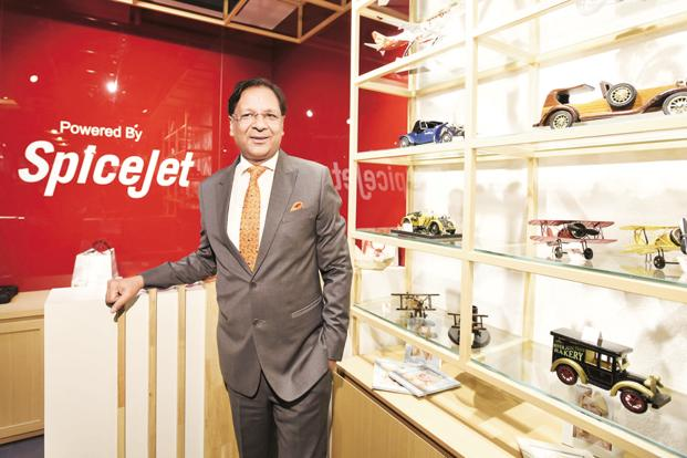 SpiceJet chairman Ajay Singh. SpiceJet at present is valued at Rs7,400 crore, up from the Rs650 crore it was valued at during its darkest hour in 2014. Photo: HT