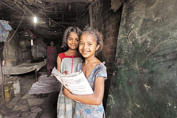 Children in Shahbad Dairy slum in Delhi. Education projects attracted the maximum CSR spend in fiscal year 2017. Photo: Raj K. Raj/HT