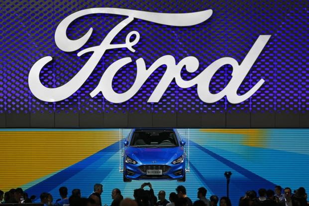 A Ford Focus on display at the China Auto Show in Beijing. Photo: Andy Wong/AP