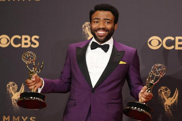 Donald Glover became the first black person to win an Emmy for directing a comedy for 'Atlanta'.